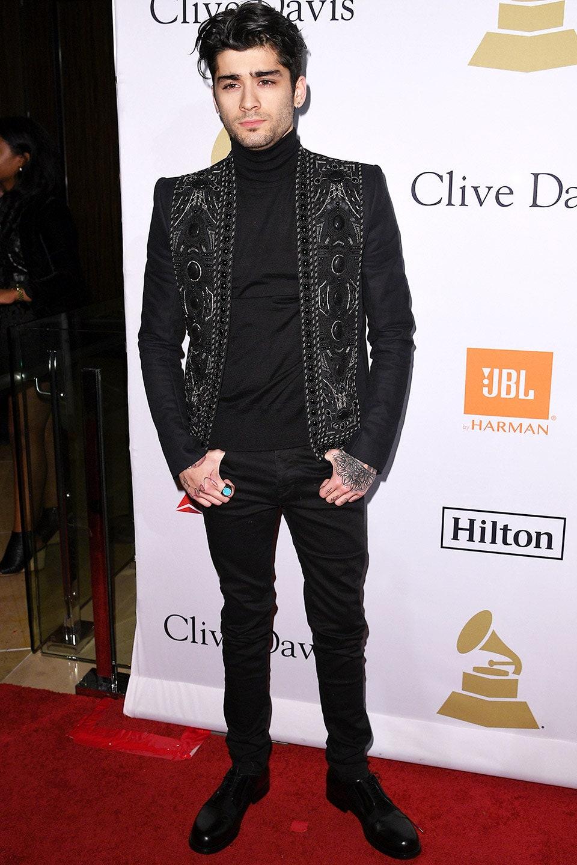 Zayn Malik en la Pre-Grammy Gala de Clive Davis en 2017. Fotografía: Kevork Djansezian/Getty Images