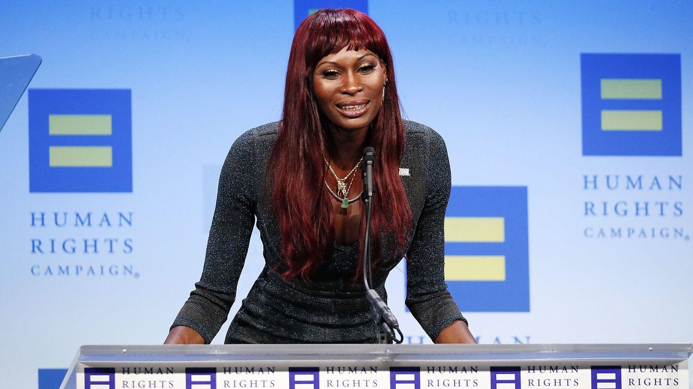 Así fue el poderoso discurso que Dominique Jackson dio sobre los derechos trans para Human Rights Campaign
