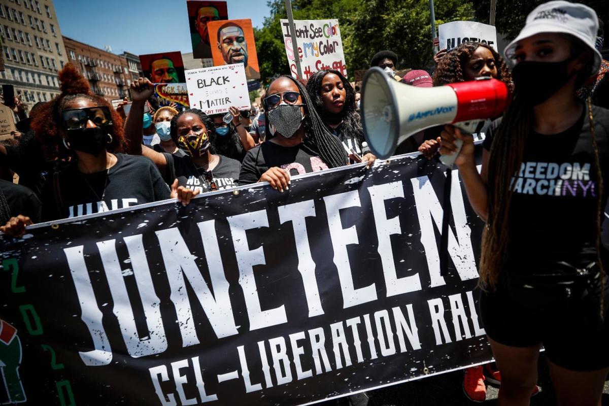 EE.UU.: La celebración del Juneteenth llega en medio de protestas; Trump amenaza a manifestantes en Tulsa