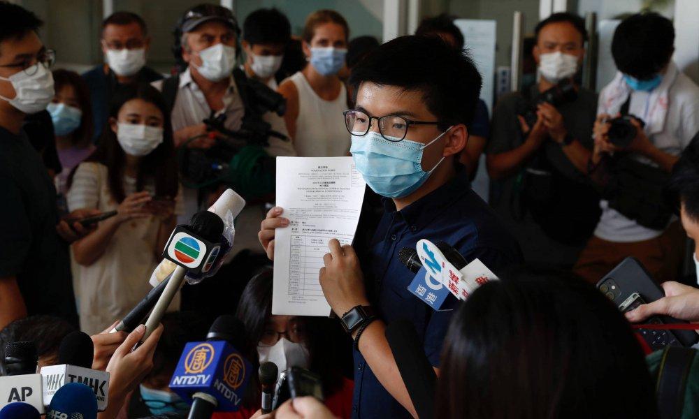 Hong Kong: Joshua Wong y otros 11 candidatos pro-democracia fueron descalificados para las elecciones legislativas