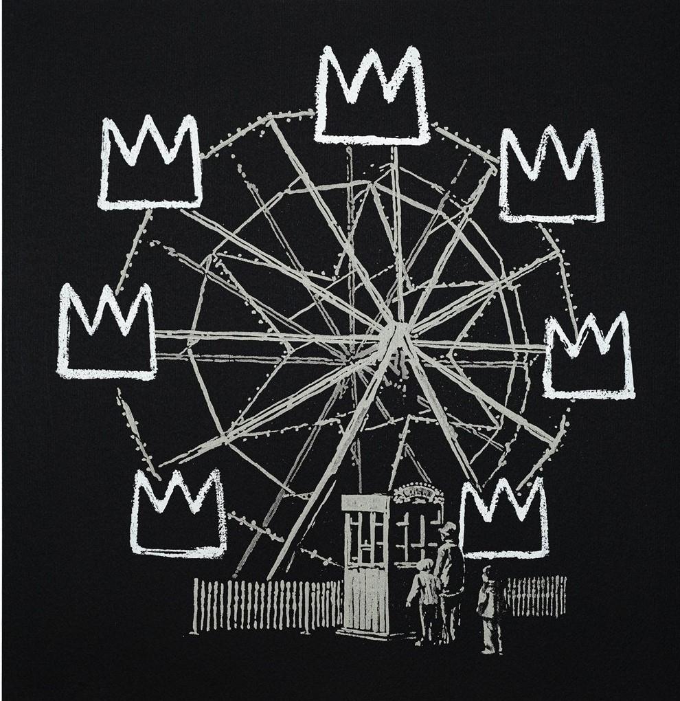 Un raro grabado de Banksy critica la mercantilización de Basquiat
