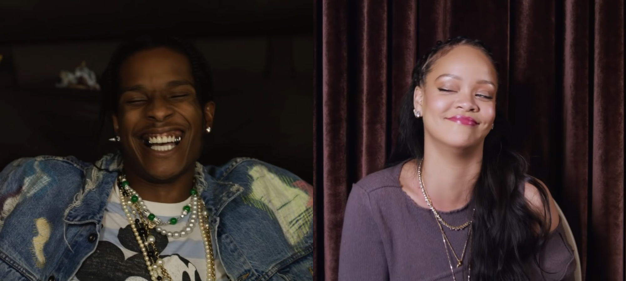 Así fue la divertida entrevista de A$AP Rocky a Rihanna
