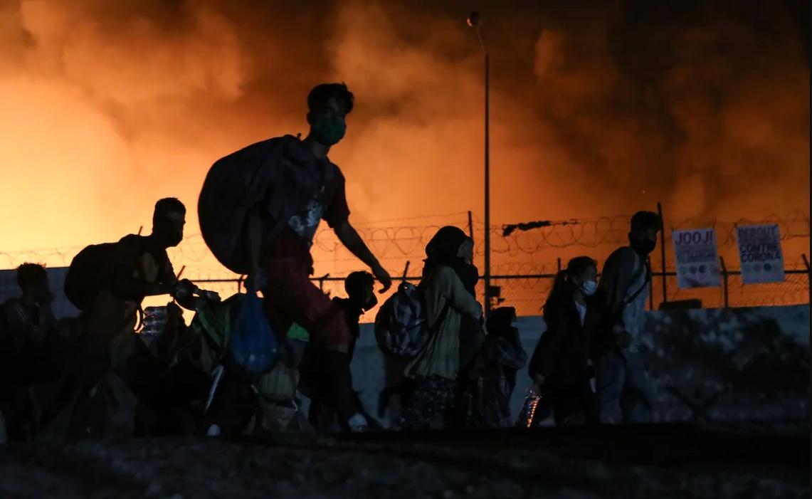 Grecia: 12.000 personas quedan sin techo tras devastador incendio en el mayor campo de refugiados de Europa
