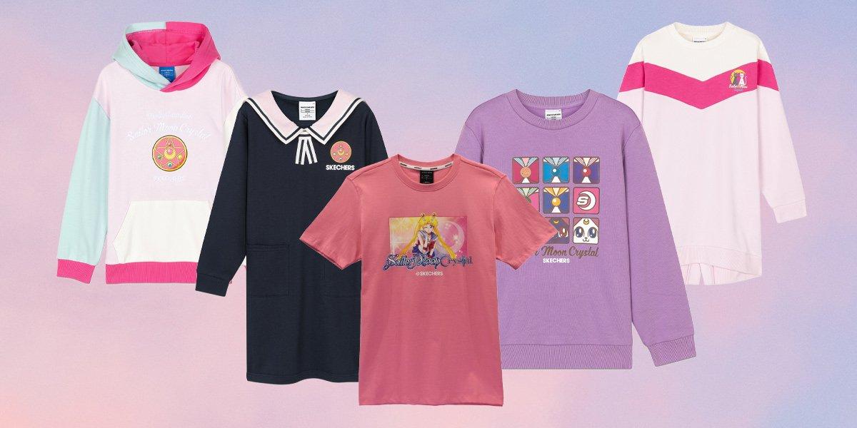 """Skechers rinde homenaje a """"Sailor Moon Crystal"""" con una colección de t-shirts y hoodies"""