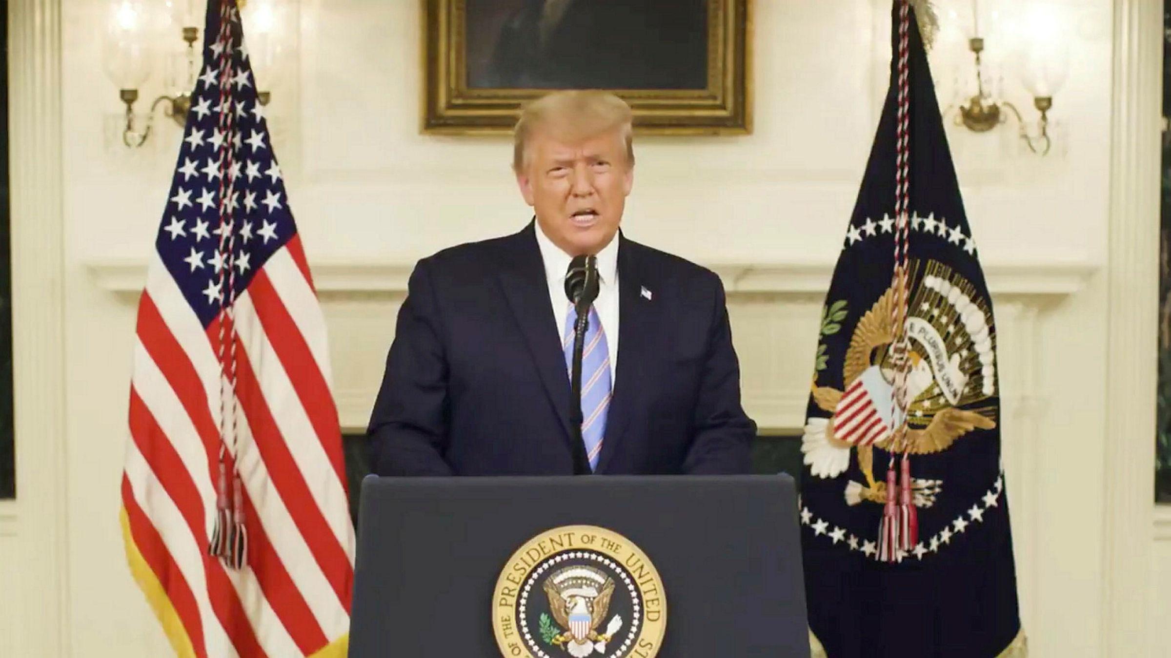 EE.UU.: Donald Trump admite la derrota y condenó los hechos violentos durante el asalto al Congreso