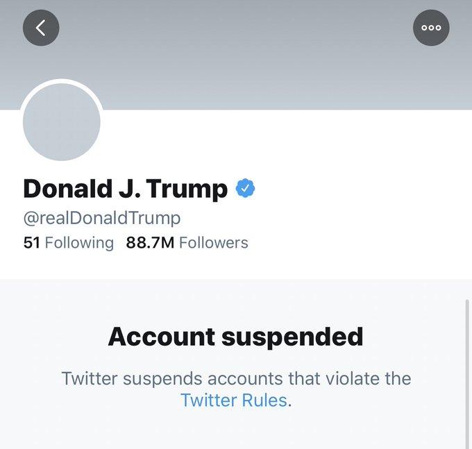 Twitter suspende permanentemente la cuenta de Donald Trump