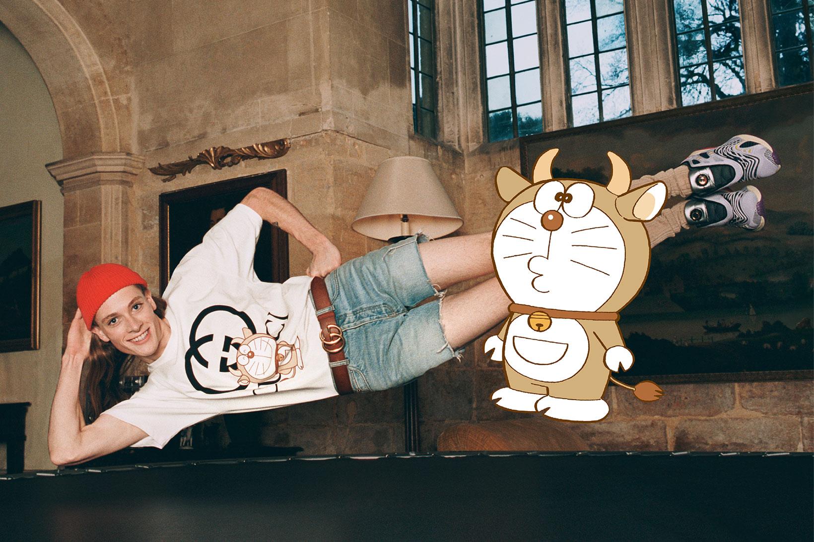 Gucci reimagina a Doraemon como un buey para celebrar el Año Nuevo Lunar en una nueva cápsula