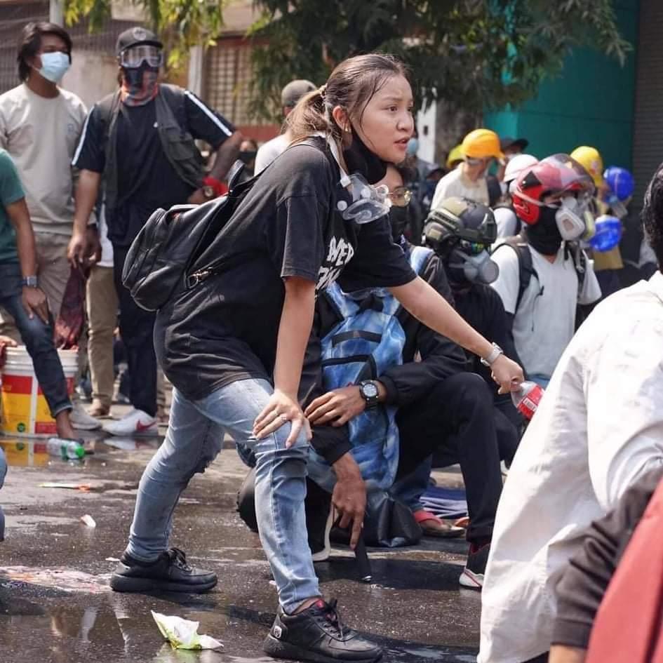 Angel, la manifestante que se convirtió en un icono de la lucha democrática en Myanmar