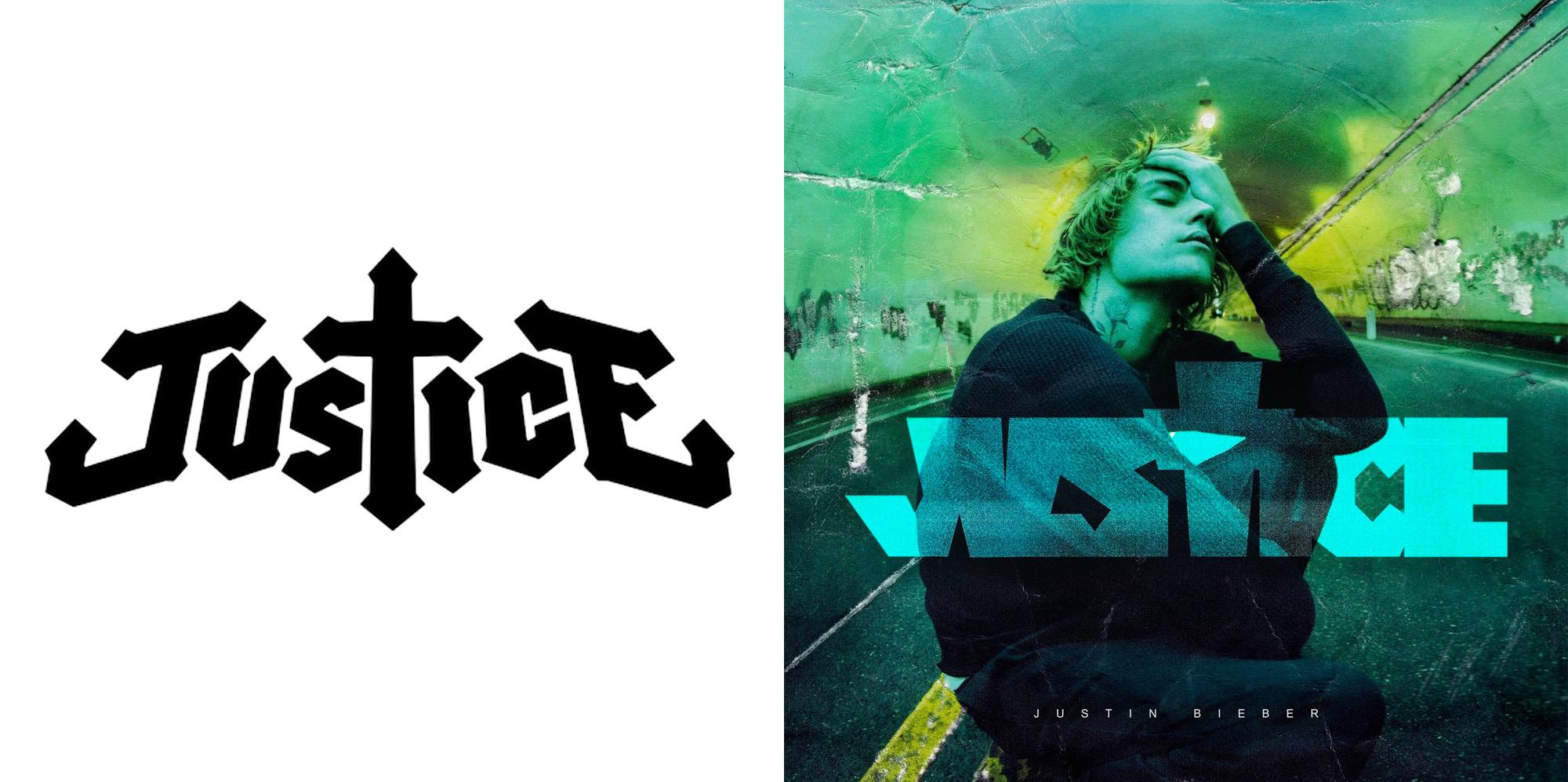 ¿Se copió Justin Bieber el logo de Justice para su nuevo álbum?