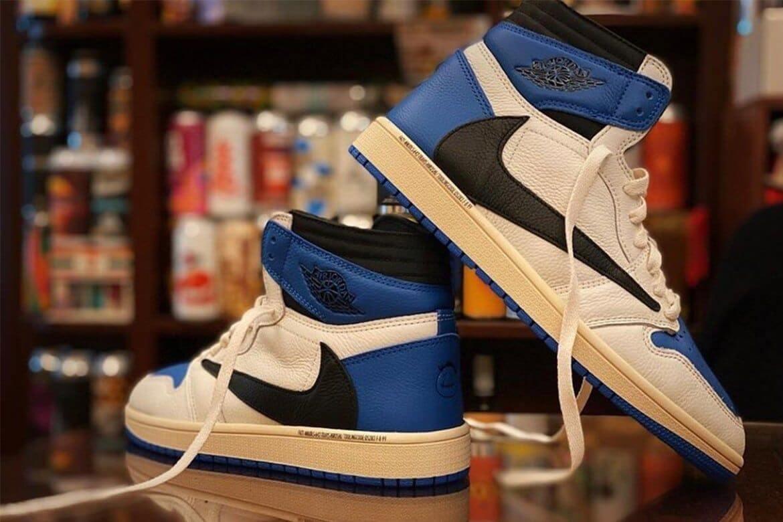 Travis Scott x fragment design x Air Jordan 1. Fotografía: Highxtar